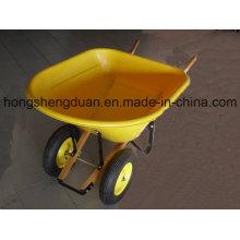 Brouette de roue en bois à deux roues en bois Brouette de roue en bois à deux roues