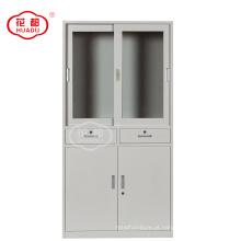 Fábrica que vende diretamente laboratório de aço da porta de vidro da amostra interruptor de arquivamento armário de rack de livro de aço