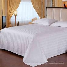 Satin Strip Flat Sheet for Hotel Bedding Sets (WSFS-2016007)