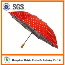 Cheap Prices!! Factory Supply wind-proof 2 folding umbrella with Crooked Handle