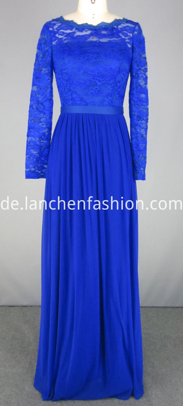 chiffon dress blue