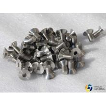 Tornillo de cabeza hueca hexagonal de titanio
