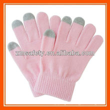 3 Fingers Soft Touch Pink Smartphone Gloves