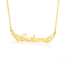 Custom Name Plate Necklace Personalised Customised Stainless Steel Nameplate Name Pendant Necklace
