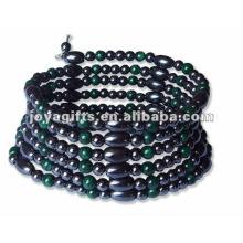 """Malaquita magnética Beaded wrap Bracelets & Necklace 36 """""""
