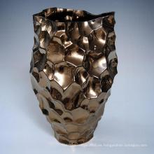 Urna de cerámica de encargo al por mayor de la flor para la etiqueta que cultiva un huerto (K0012)