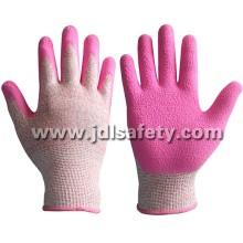 Работа перчатка с розовой латекса с покрытием (LDF8057)