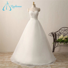 Lace Appliques Princess Organza Luxury Wedding Dress