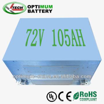 Batterie de 72V 105ah LiFePO4 pour le véhicule électrique pur