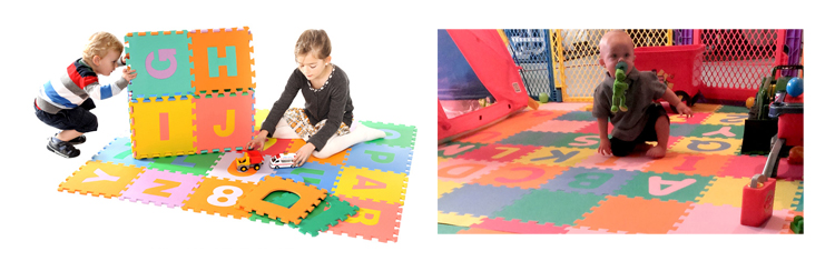 Melors Baby Room Play Gym Letters Puzzle Mat