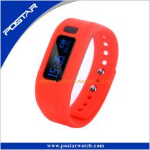 Monitor de ritmo cardíaco Pedometer Smart Phone reloj de pulsera Teléfono móvil banda de silicona