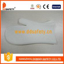 White Silicone BBQ Gloves Kitchen Daily Gloves Dsr329