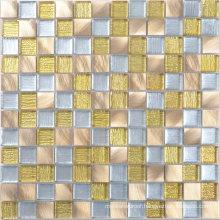 300X300 Color Mixture Glass Aluminum Tile Mosaics for Sale