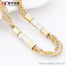 Fashion Xuping Multicolor Bead Women′s Neckalce in Environmental Copper-42671