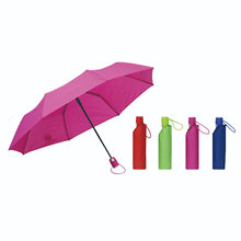 3 Folding Auto Open Umbrella with Logo/Fashion Folding Advertising Umbrella for Lady