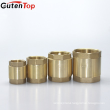 Gutentop High Quality Brass non return valve spring vertical inline stop check valve with plastic core