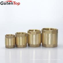Gutentop высококачественной латуни обратный клапан пружинный вертикальный рядный остановить обратный клапан с пластиковым сердечником