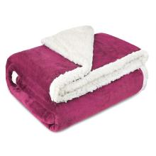 Sherpa de dupla camada personalizada cobertor de lã