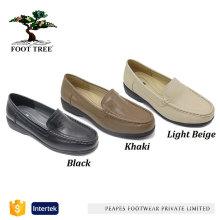 Chaussures à lacets compensées en cuir pour femmes