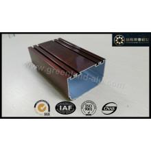 Aluminiumprofil für Türbrand Elektrophoretische Beschichtung Bronze Farbe