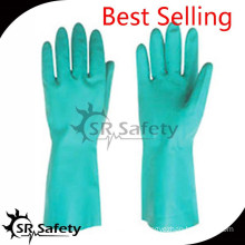 SRSAFETY 2015 chemical uesd gloves in china with best quality 22 mil gloves working gloves householding gloves