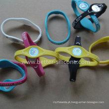 Custom-Made pulseira de silicone de silicone de energia