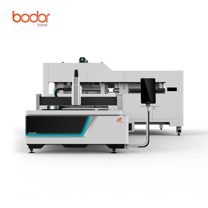 Automatic fiber laser cutting machine with double platforms