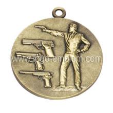 Medalla de evento deportiva personalizada Medalla de latón antigua plateada disponible