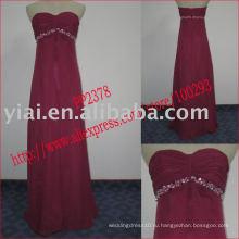 2011 высокое качество падение доставка производство chifffon сексуальный вышитый бисером без бретелек коктейльное платье PP2378