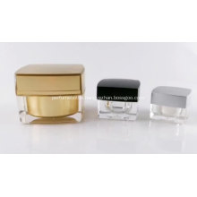 Gold Face Cream Acrylic Plastic Jar