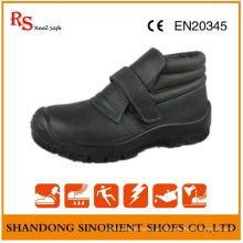 Sapatos de segurança para soldagem resistente a produtos químicos, sapatos de segurança sem renda RS022