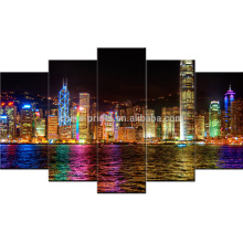 Картина холстины ночи HongKong / холстина холстины / протягиванный холстина / картина печатание