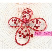 Princesa Real Red Diamond casamento cabelo jóias