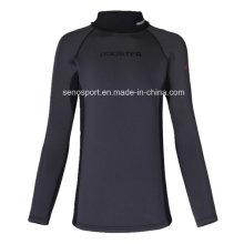 High Quality Spandex Nylon Black Surf Rash Guard for Men (SNRG01)
