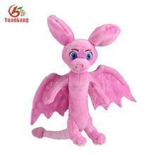 Juguetes de dinosaurio rosa al por mayor de fábrica de juguetes de peluche