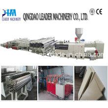 Maquinaria de chapa de espuma de PVC para encofrados de construcción