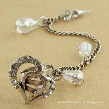 Lover Gift! Heart Shape Ear Cuff Wholesale Rhinestone Ear Clip Earrings Jewelry EC70