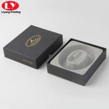 Caja de regalo personalizada de cartón de poder con incrustaciones