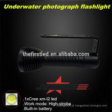 JEXREE Underwater Photography Mergulho lanterna com carregamento USB