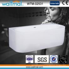 Wall Against Bathtub Acrylique Autoportant Trempage