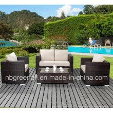 PE ротанга и алюминиевой раме мебель, Открытый ротанг диван