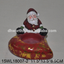2016 novo estilo de Natal santa cerâmica candle holder