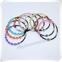 Catholic Colourful Plastic Beads Saint Rosary Bracelet (IO-CB164)