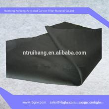 suministro de carbón de carbono 100% puro tejido de fibra de filtro de carbón activado
