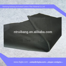 supply 100% pure carbon charcoal Activated carbon filter fiber cloth