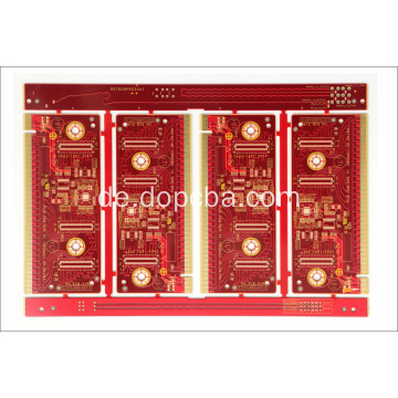 Red Solder Mask 1oz 4layers angepasste Platine