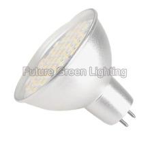 Luz de bulbo del LED MR16 (base de Gu5.3, taza de aluminio, 48SMD, 3W)