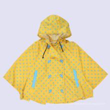 Kids Used PU Pokka Dots Kids Cloak Raincoat