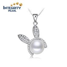 Pendentif en perle d'eau douce réelle 10-11mm Pendentif en perle à perle unique