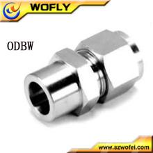 Conexão de tubo de compressão de aço inoxidável de 1/8 '' a 1 '' macho